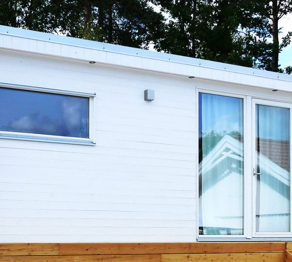 Ny modell E25, 25 kvm komplementbostadshus komplett med badrum och kök