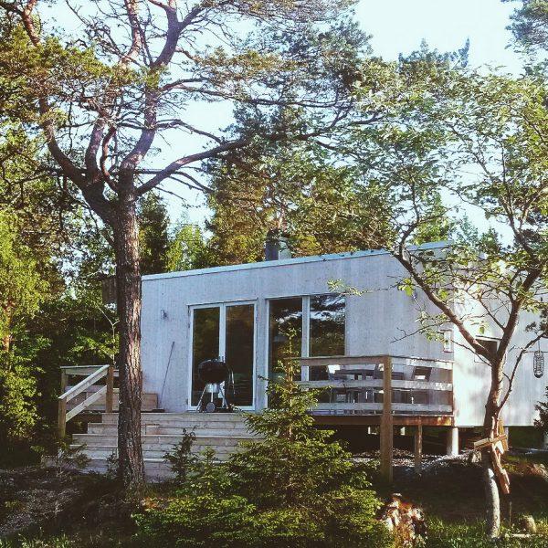 Fritidshus i skogen