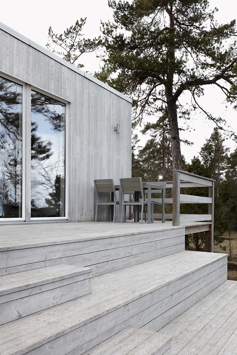 Attefall 30 i grå fasad