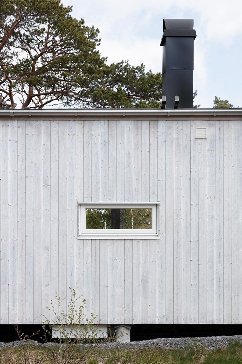 Fritidshus med stående panel