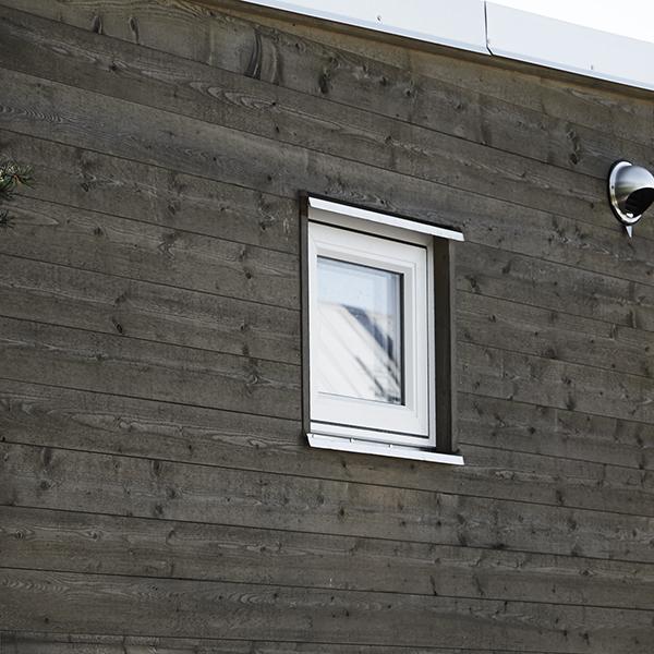 Aluminiumprofil trafonster och fasad i jarnvitriol