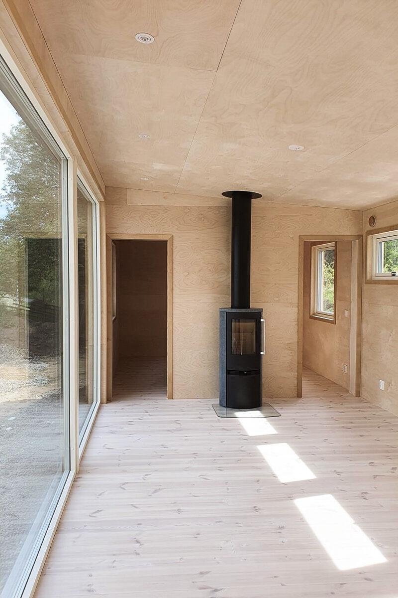 plywood bjork interior enkelrum
